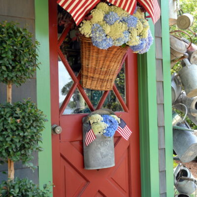 DIY: Floral She Shed Door Basket
