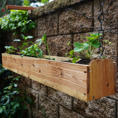 How to Make a Cedar Hanging Planter Box